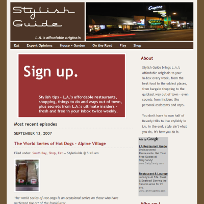 StylishGuide homepage