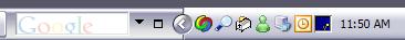 Google Desktop Search Bar