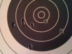 AR-15 with Iron Sights at 25 Yards While Sitting