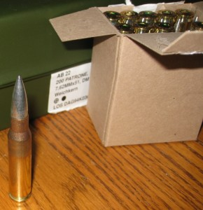 Surplus German DAG 7.62x51 Ammo Round