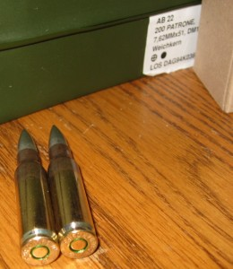Surplus German DAG 7.62x51 Ammo Two Rounds