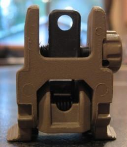Magpul Flat Dark Earth MBUS AR-15 Rear Sight Large Short Range Aperture
