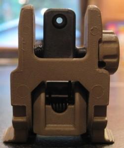 Magpul Flat Dark Earth MBUS AR-15 Rear Sight Small Long Range Aperture