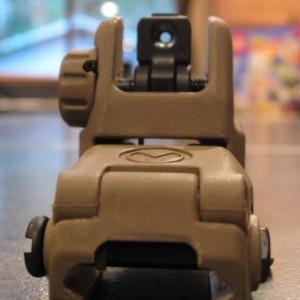 Magpul Flat Dark Earth MBUS AR-15 Rear Sight Front