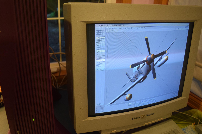 Rare SGI Silicon Graphics Non-Impact Purple Indigo 2 Close Up