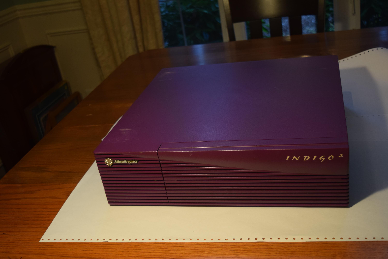 Rare SGI Silicon Graphics Non-Impact Purple Indigo 2 Front Closed