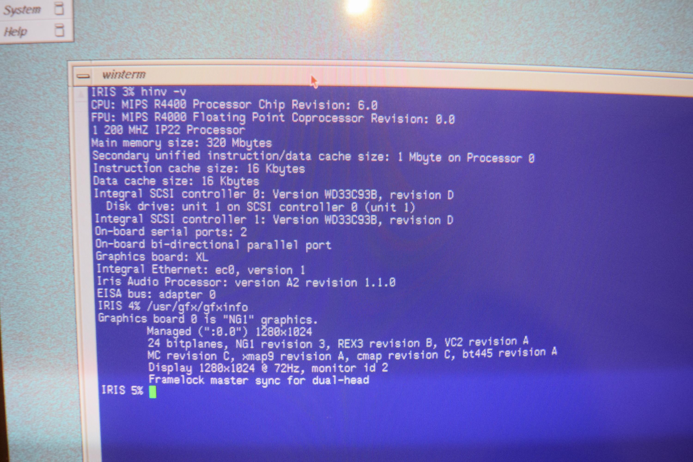 Rare SGI Silicon Graphics Non-Impact Purple Indigo 2 HINV