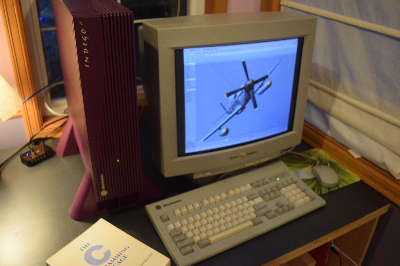 Rare SGI Silicon Graphics Non-Impact Purple Indigo 2 Lightwave